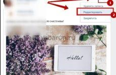 Как отредактировать запись на стене Вконтакте через сутки