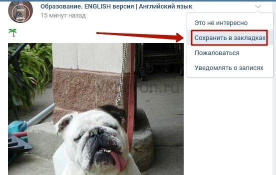 Как посмотреть закладки в ВКонтакте с компьютера 3-min